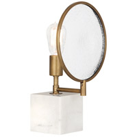 Robert Abbey 1526 Fineas 15 inch 150 watt Aged Brass Accent Lamp Portable Light in Alabaster Stone