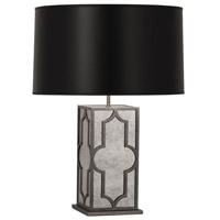Robert Abbey 1540B Addison 28 inch 150 watt Patina Nickel Table Lamp Portable Light in Black Painted Opaque Parchment thumb