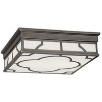 Robert Abbey 1543 Addison 2 Light 16 inch Patina Nickel Flush Mount Ceiling Light thumb