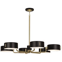 Simon 6 Light 15 inch Modern Brass Chandelier Ceiling Light