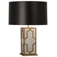 Robert Abbey 1570B Addison 28 inch 150 watt Weathered Brass Table Lamp Portable Light in Black Painted Opaque Parchment thumb