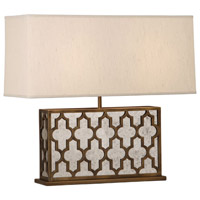 Robert Abbey 1571 Addison 21 inch 100 watt Weathered Brass Table Lamp Portable Light in Taupe Dupioni Fabric thumb