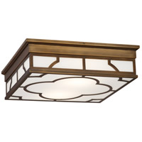 Robert Abbey 1573 Addison 2 Light 16 inch Weathered Brass Flush Mount Ceiling Light