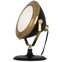 Robert Abbey 1580 Apollo 13 inch 60 watt Antique Brass with Matte Black Accent Lamp Portable Light