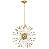 Robert Abbey 165 Andromeda 8 Light 20 inch Modern Brass with Clear Acrylic Rods Chandelier Ceiling Light thumb