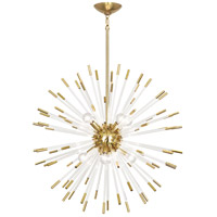 Robert Abbey 166 Andromeda 8 Light 28 inch Modern Brass with Clear Acrylic Rods Chandelier Ceiling Light