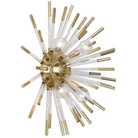 Robert Abbey 167 Andromeda 4 Light 18 inch Modern Brass with Clear Acrylic Rods Wall Sconce Wall Light