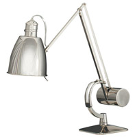 Dave 8 inch 60 watt Polished Nickel Table Lamp Portable Light