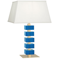 Robert Abbey 176 Jonathan Adler Monaco 26 inch 150 watt Lacquered Natural Brass with Turquoise Crystal Table Lamp Portable Light photo thumbnail