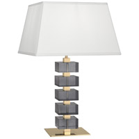 Robert Abbey 177 Jonathan Adler Monaco 26 inch 150 watt Lacquered Natural Brass with Smoke Crystal Table Lamp Portable Light
