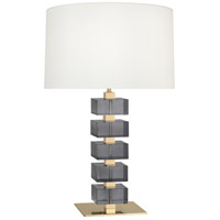 Robert Abbey 177X Jonathan Adler Monaco 26 inch 150 watt Lacquered Natural Brass with Smoke Crystal Table Lamp Portable Light