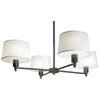 Robert Abbey 1827 Real Simple 4 Light 27 inch Gunmetal Powder Coat Over Steel Chandelier Ceiling Light in Snowflake Fabric