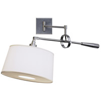 Real Simple 31 inch 60 watt Gunmetal Powder Coat Swing Lamp Wall Light in Snowflake Fabric