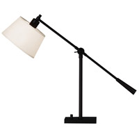 Robert Abbey 1833 Real Simple 16 inch 100 watt Matte Black Powder Coat Table Lamp Portable Light in Snowflake