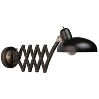 Bruno 37 inch 60 watt Lead Bronze Swing Lamp Wall Light