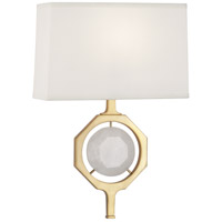 Robert Abbey 1877 Hope 1 Light 6 inch Modern Brass Wall Sconce Wall Light in White Rock Crystal, Fondine