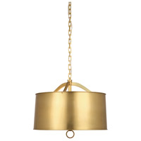 Robert Abbey 1912 Porter 3 Light 20 inch Antique Brass Pendant Ceiling Light