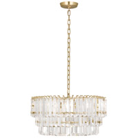 Spectrum 2 Light 20 inch Modern Brass Pendant Ceiling Light