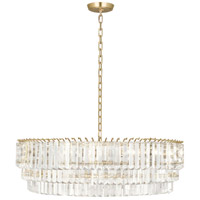 Spectrum 6 Light 32 inch Modern Brass Pendant Ceiling Light