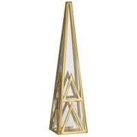 Robert Abbey 1920 Apex Clear Crystal with Modern Brass Obelisk