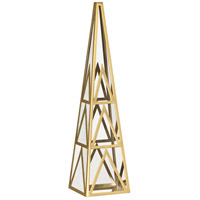 Robert Abbey 1921 Apex Clear Crystal with Modern Brass Obelisk
