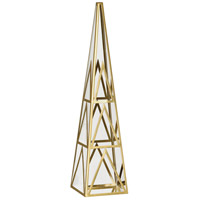 Robert Abbey 1922 Apex Clear Crystal with Modern Brass Obelisk