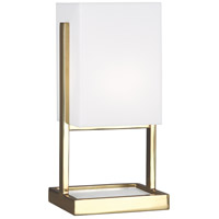 Robert Abbey 195 Nikole 13 inch 60 watt Modern Brass Accent Lamp Portable Light
