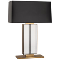 Aged Brass and Black Table Lamps