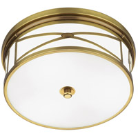 Robert Abbey 1985 Chase 3 Light 14 inch Antique Brass Flush Mount Ceiling Light thumb