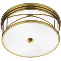 Robert Abbey 1985 Chase 3 Light 15 inch Antique Brass Flushmount Ceiling Light