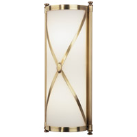 Chase 2 Light 7 inch Antique Brass Wall Sconce Wall Light