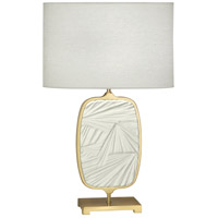 Robert Abbey 2011 Michael Berman Flynn 28 inch 100 watt Modern Brass and Flat Lily Table Lamp Portable Light photo thumbnail
