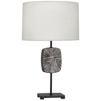Robert Abbey 2025 Michael Berman Alberto 27 inch 150 watt Blackened Antique Silver with Deep Patina Bronze Table Lamp Portable Light