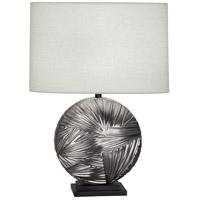 Robert Abbey 2027 Michael Berman Frank 29 inch 100 watt Blackened Antique Silver with Deep Patina Bronze Table Lamp Portable Light