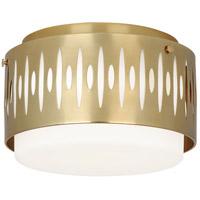 Robert Abbey 2088 Treble 3 Light 13 inch Modern Brass Flushmount Ceiling Light