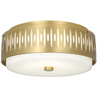 Robert Abbey 2089 Treble 4 Light 21 inch Modern Brass Flushmount Ceiling Light