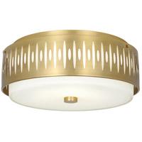 Robert Abbey 2089 Treble 4 Light 21 inch Modern Brass Flushmount Ceiling Light