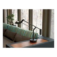Robert Abbey 2107 Crane 13 inch 35 watt Dark Brushed Nickel Table Lamp Portable Light 2107-Glam.jpg thumb