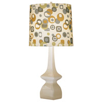 Jayne 31 inch 150 watt Oat Table Lamp Portable Light in Artichoke/Tobacco Geometric Print