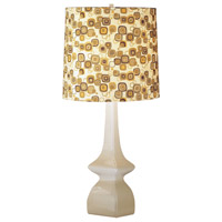 Jayne 31 inch 150 watt Oat Table Lamp Portable Light in Tobacco/Pumpkin Geometric Print