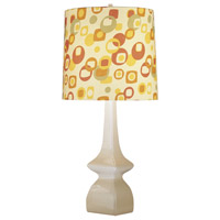 Jayne 31 inch 150 watt Oat Table Lamp Portable Light in Pumpkin/Artichoke Geometric Print