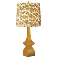 Jayne 31 inch 150 watt Pumpkin Table Lamp Portable Light in Tobacco/Pumpkin Geometric Print