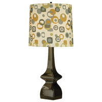 Jayne 31 inch 150 watt Tobacco Table Lamp Portable Light in Artichoke/Tobacco Geometric Print