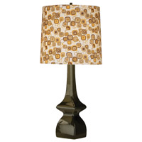 Jayne 31 inch 150 watt Tobacco Table Lamp Portable Light in Tobacco/Pumpkin Geometric Print