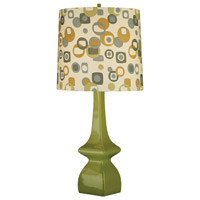Jayne 31 inch 150 watt Artichoke Table Lamp Portable Light in Artichoke/Tobacco Geometric Print