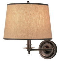Winston 22 inch 100 watt Dark Brushed Nickel Swing Lamp Wall Light