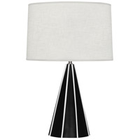 Robert Abbey 220 Monique 25 inch 150 watt Matte Black Table Lamp Portable Light