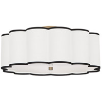 Robert Abbey 2201 Axis 4 Light 24 inch Aged Brass Flushmount Ceiling Light
