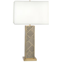 Lloyd 30 inch 150 watt Modern Brass with Black Table Lamp Portable Light in Black Lacquered