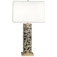 Robert Abbey 2274 Lloyd 30 inch 150 watt Modern Brass with Black Laquer Table Lamp Portable Light in Black Lacquered
